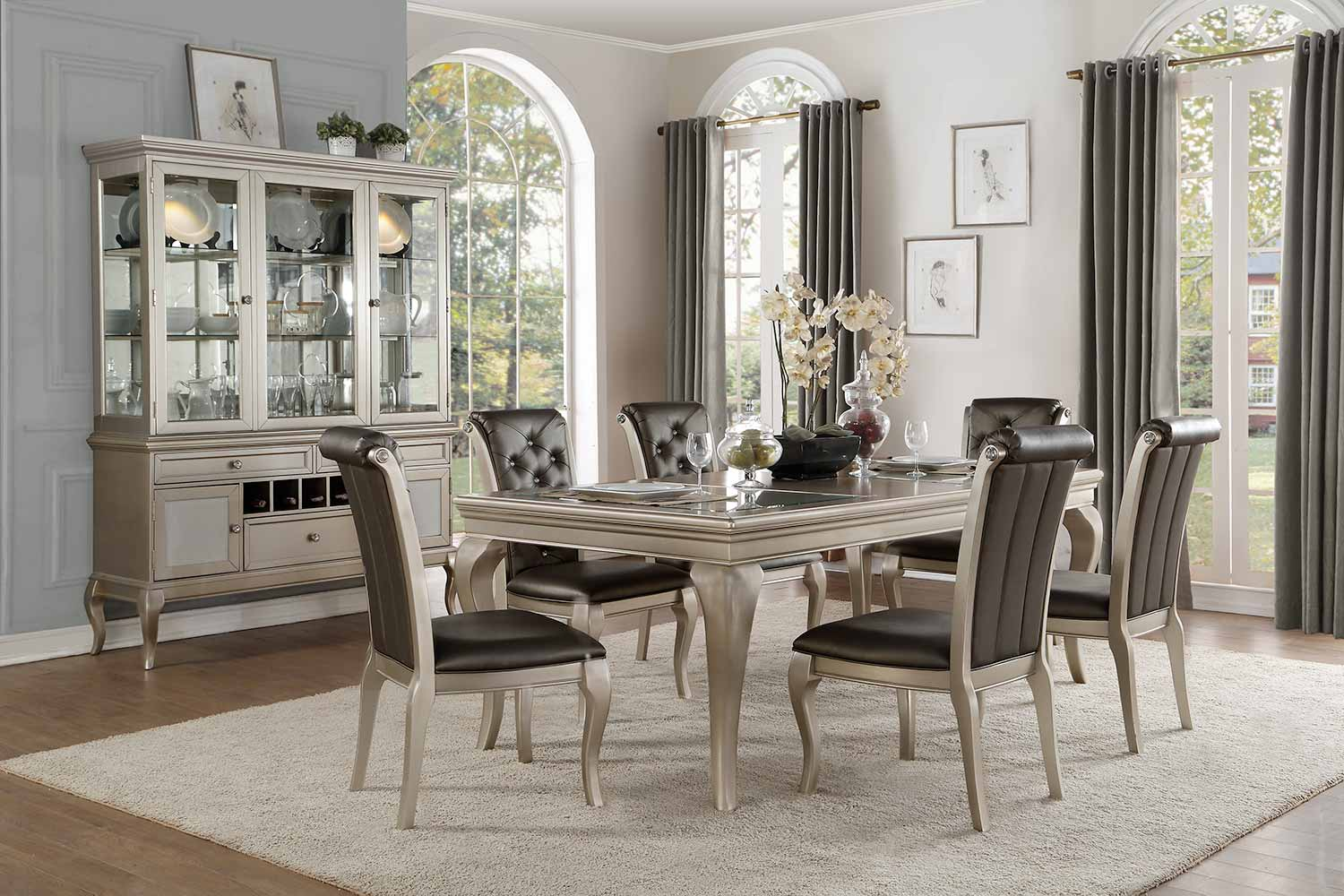 Homelegance Crawford Dining Set - Silver