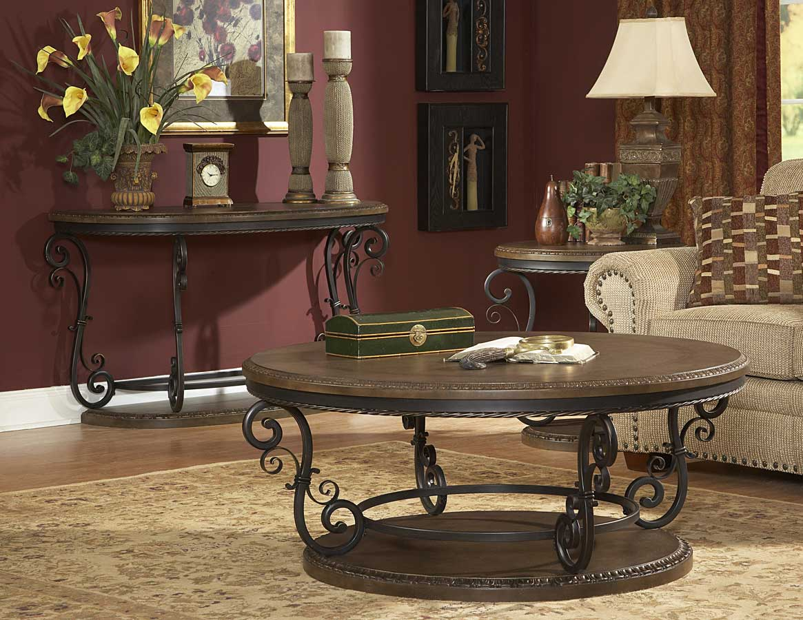 Homelegance Harman Heights Oversized Round Cocktail Table