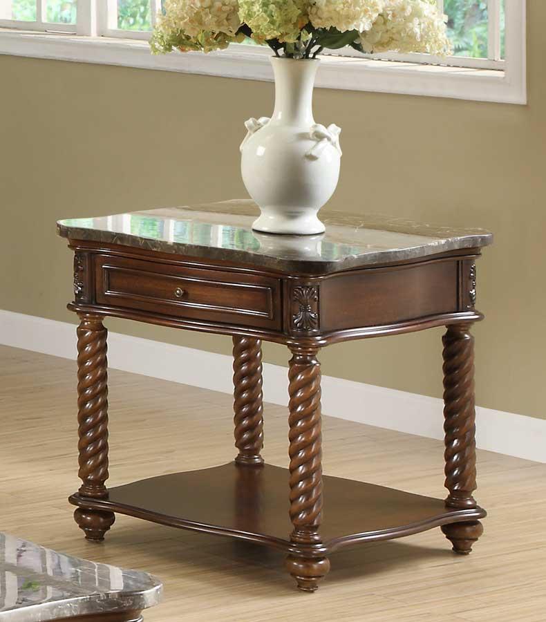 Homelegance Lockwood End Table - Brown Mahogany