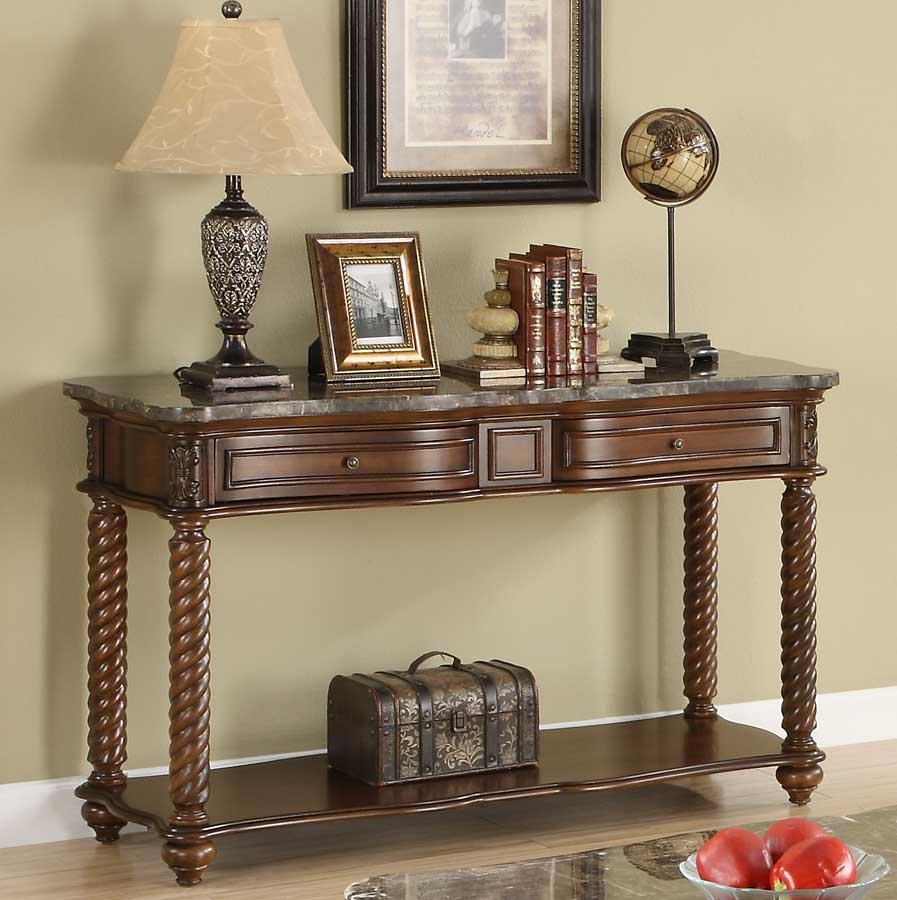 Homelegance Lockwood Sofa Table - Brown Mahogany