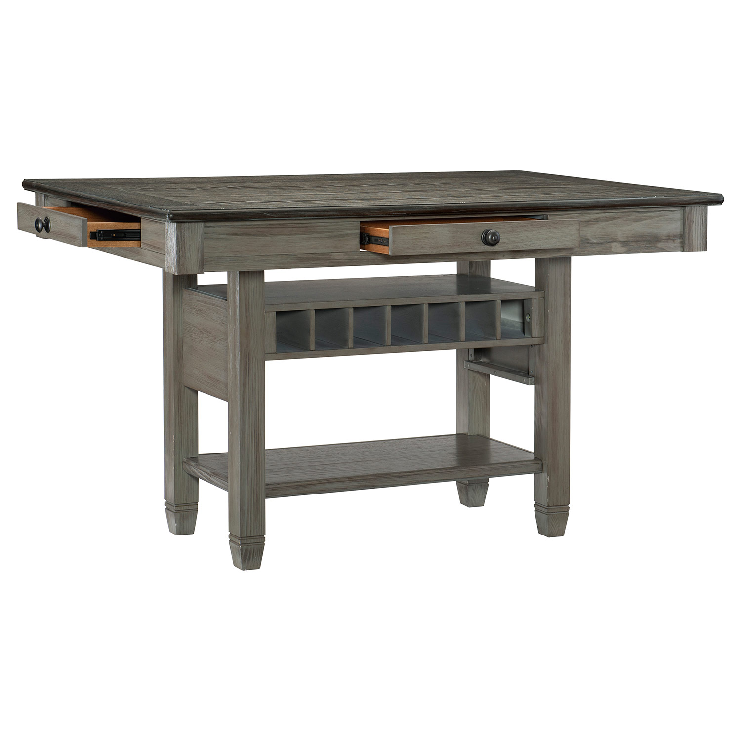 Homelegance Granby Counter Height DiningTable - Antique Gray and Coffee