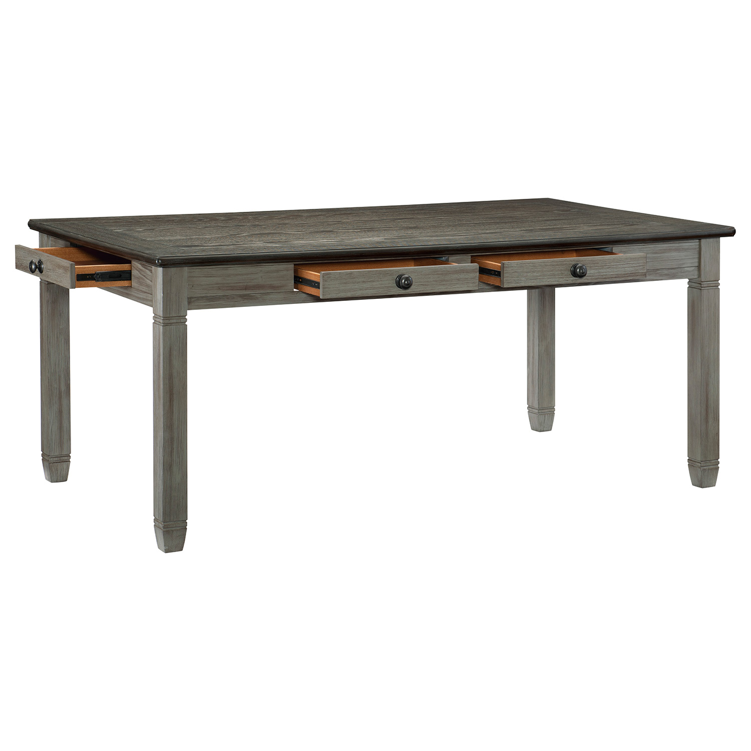 Homelegance Granby Dining Table - Antique Gray and Coffee