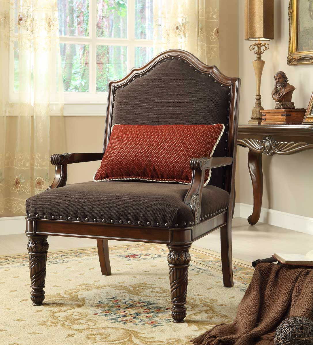 Homelegance Catalina II Chair - Chocolate - Chenille