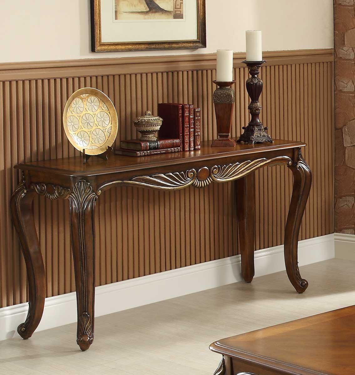 Homelegance Lambeth II Sofa Table - Rich Cherry