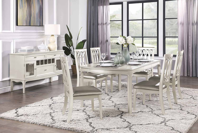 Homelegance Emmeline Dining Set - Silver