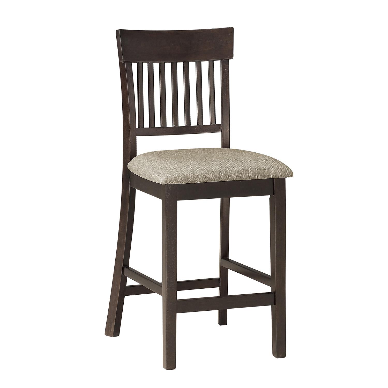 Homelegance Balin Counter Height Chair - Dark Brown