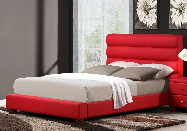 Homelegance Aven Platform Bed - Red