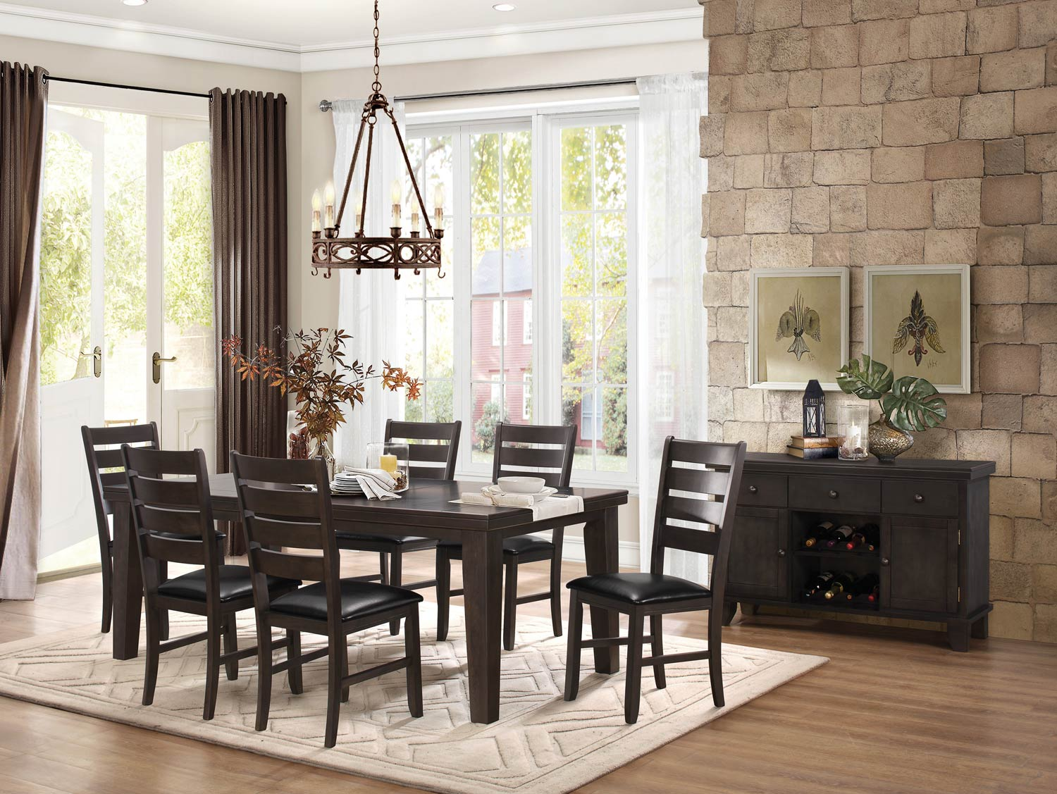 Homelegance Ameillia Dining Set - Grey/Brown