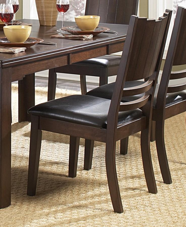 Homelegance Neely Side Chair in Dark Brown Leatherette