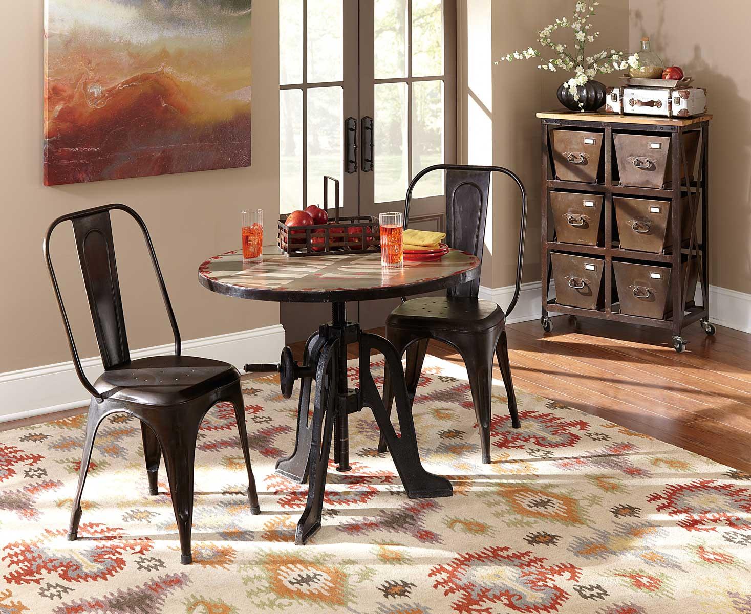 Homelegance Amara Iron Lift-Top Table Dining Set