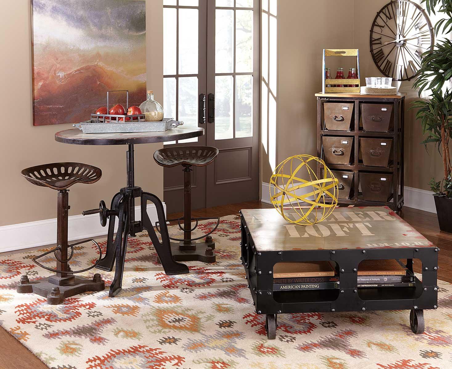 Homelegance Amara Iron Lift-Top Table Pub Dining Set