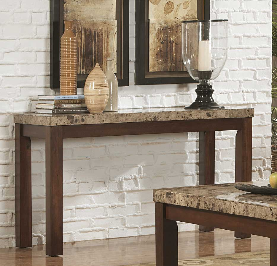 Homelegance Achillea Sofa Table With Marble Top