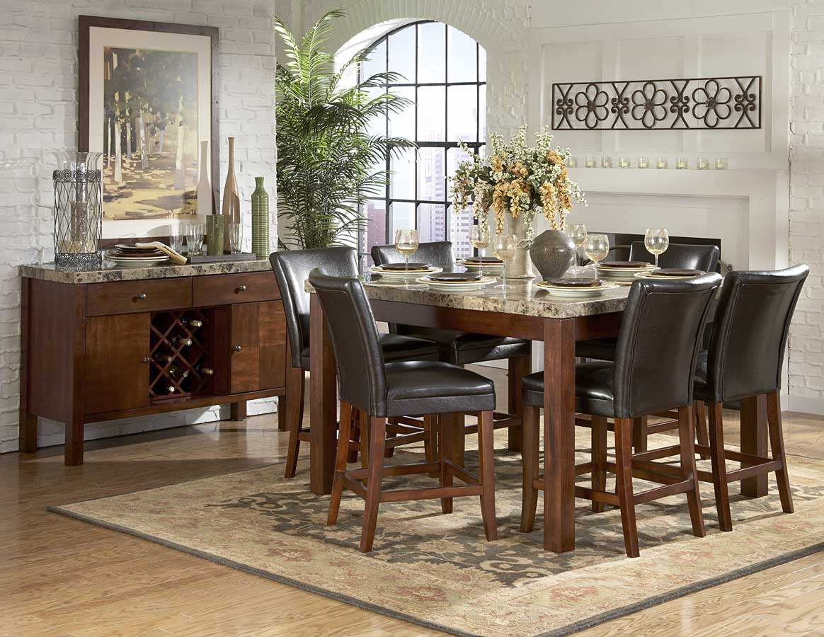 Counter Height Marble Dining Table : Homelegance Achillea Counter Height Dining Table-Marble Top 721M-54 ...