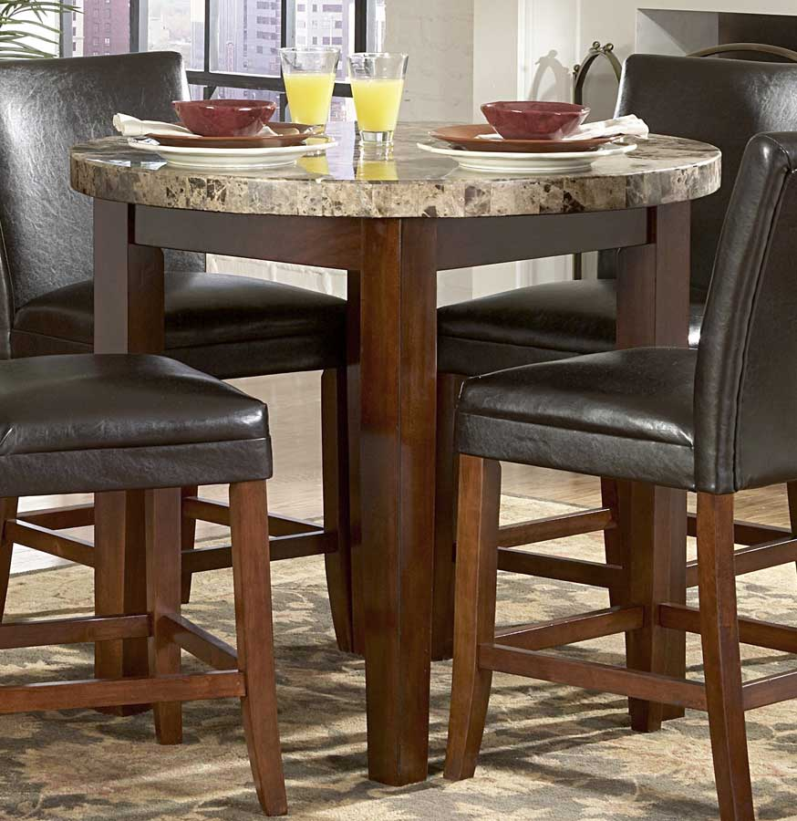 Countertop Height Round Table : Homelegance Achillea Round Counter Height Dining Table-Marble Top 721M ...