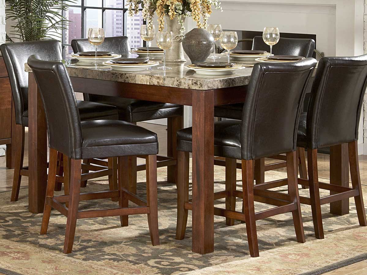 Dining room decor counter height dining table for Tall dining table