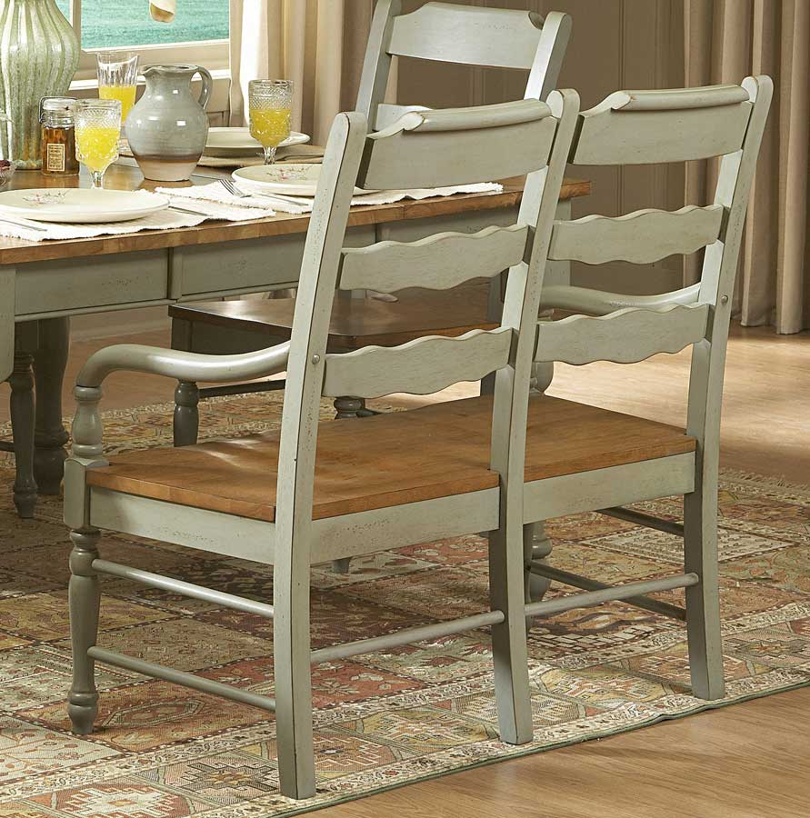 home designs 751 series dining room set in seafoam green confidently