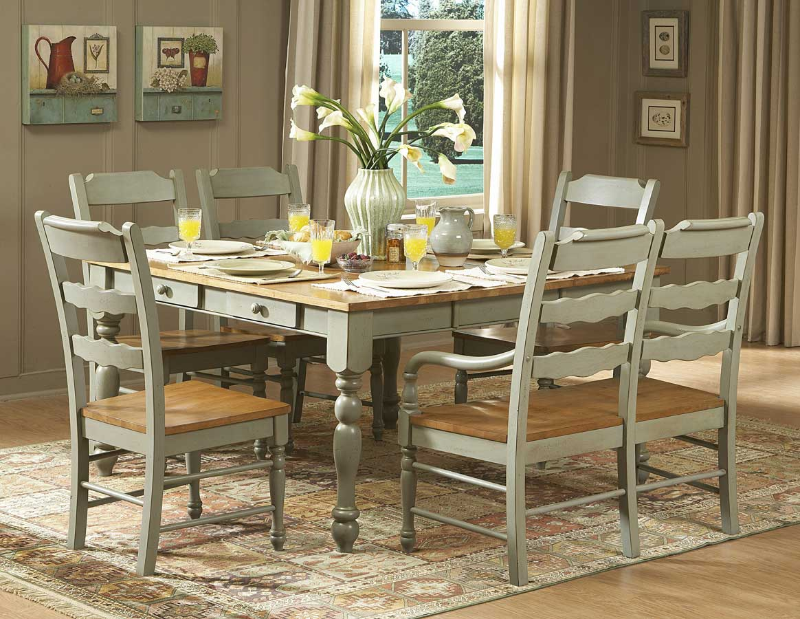 Homelegance Sedgefield Dining Table With Drawers Green
