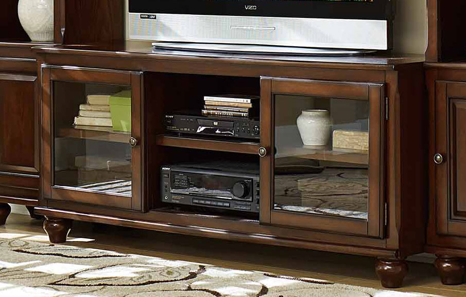 Homelegance Lenore TV Stand - Rich Cherry