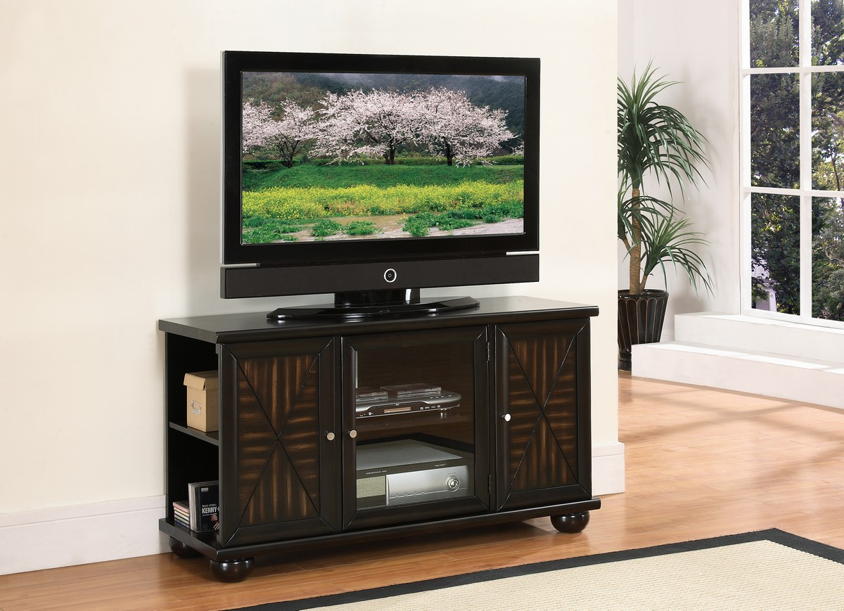 Homelegance Rufus 48in TV Stand in Walnut Finish