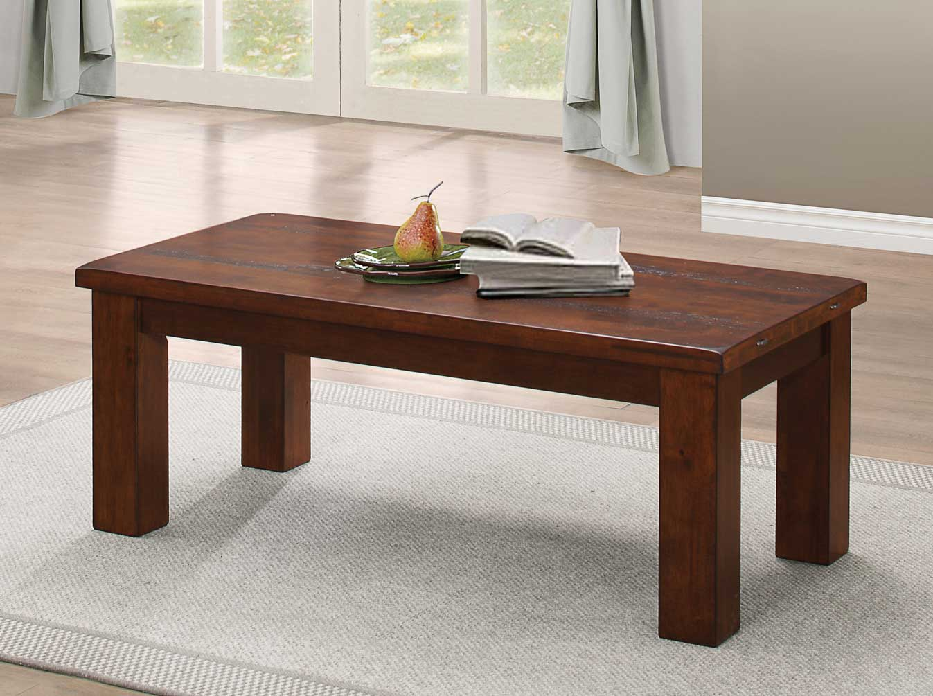 Homelegance Santos Cocktail Table - Natural Brown