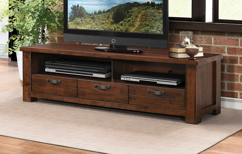 Homelegance Santos 68-inch TV Stand - Natural Brown