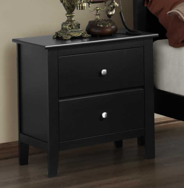 Homelegance Harris Night Stand - Black
