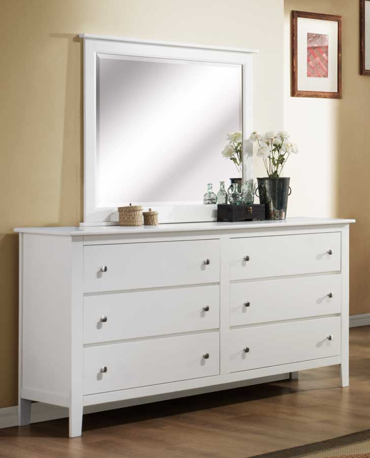 Homelegance Harris Mirror - White