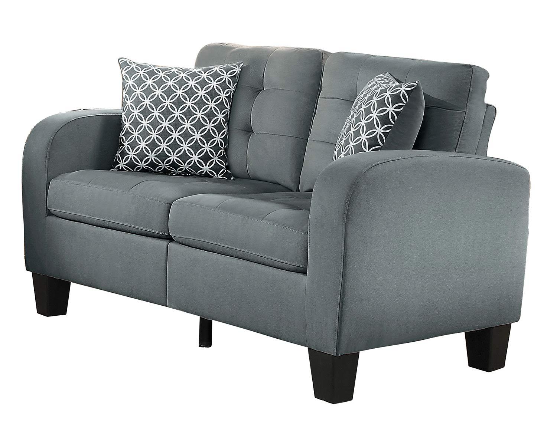 Homelegance Sinclair Love Seat - Gray Fabric