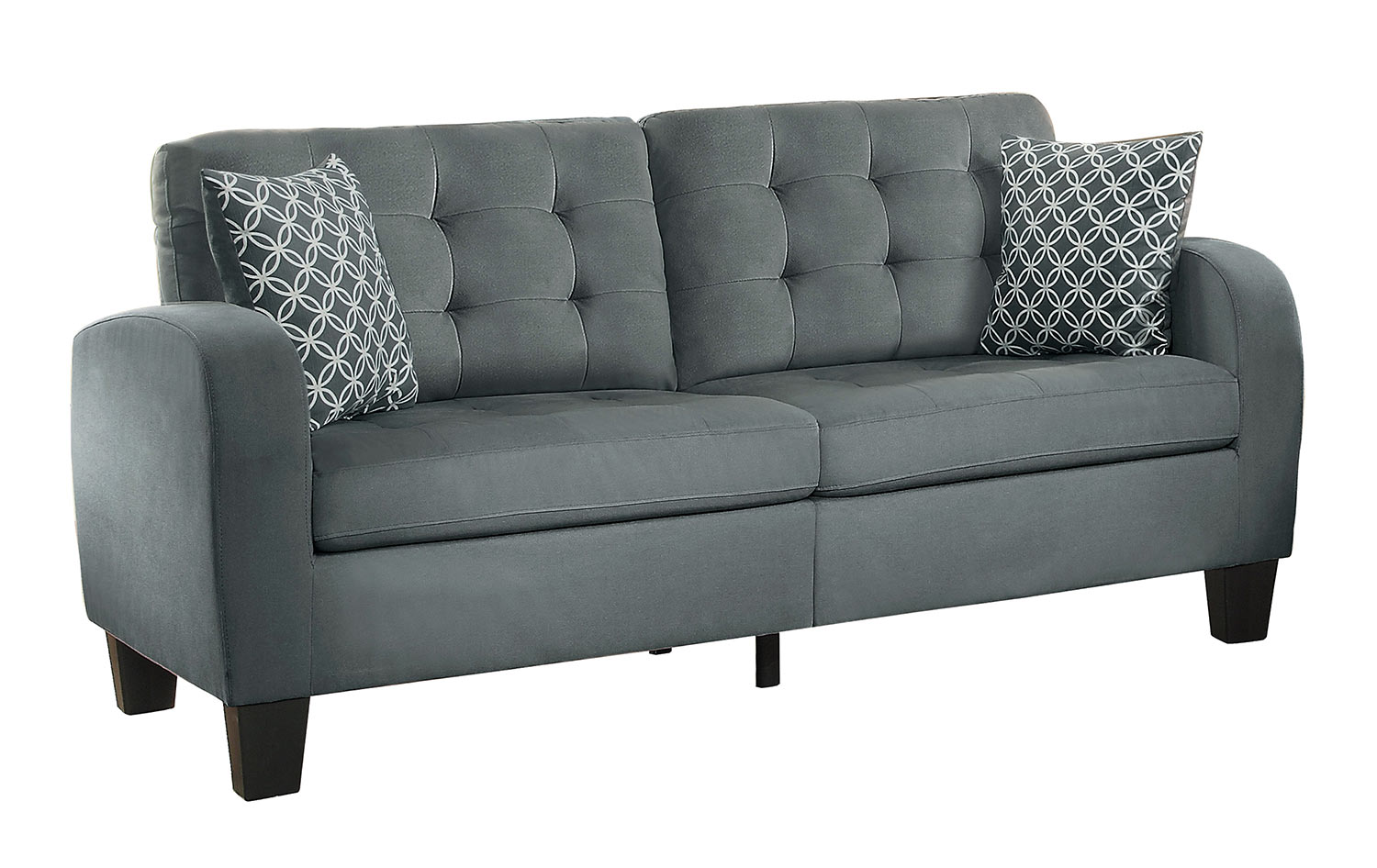 homelegance sinclair sofa gray fabric 8202gry 3 at