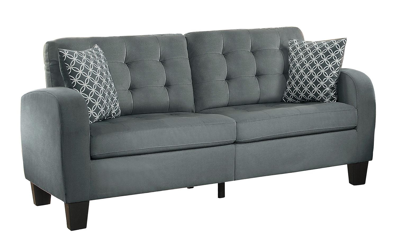 Homelegance Sinclair Sofa - Gray Fabric