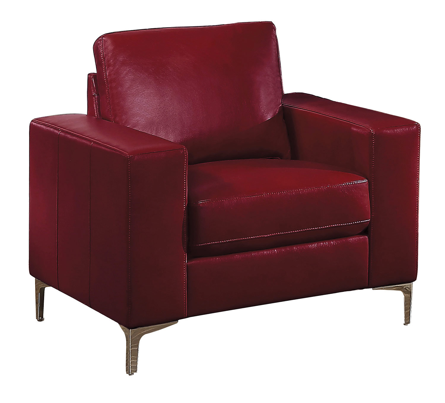 Homelegance Iniko Sofa Set Red Leather Gel Match 8203rd