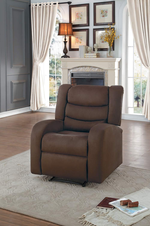 Homelegance Earl Reclining Chair - Chocolate Fabric