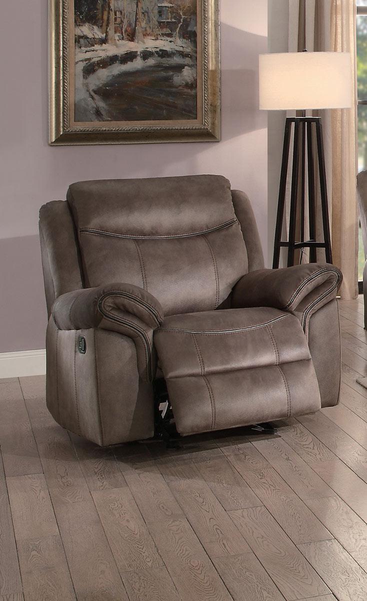 Homelegance Aram Glider Reclining Chair - Brown Fabric
