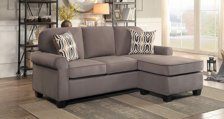 Homelegance Sprague Reversible Sectional Sofa - Fossil Fabric