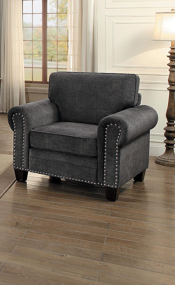 Homelegance Cornelia Chair - Dark Gray Fabric