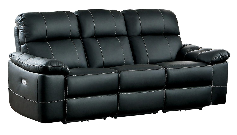 Homelegance Nicasio Power Double Reclining Sofa Black