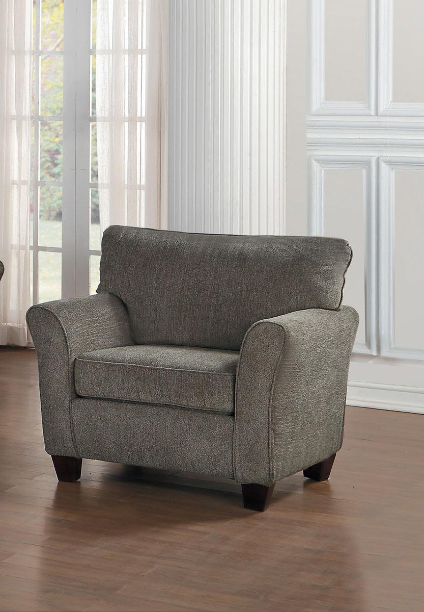 Homelegance Alain Chair - Gray Fabric