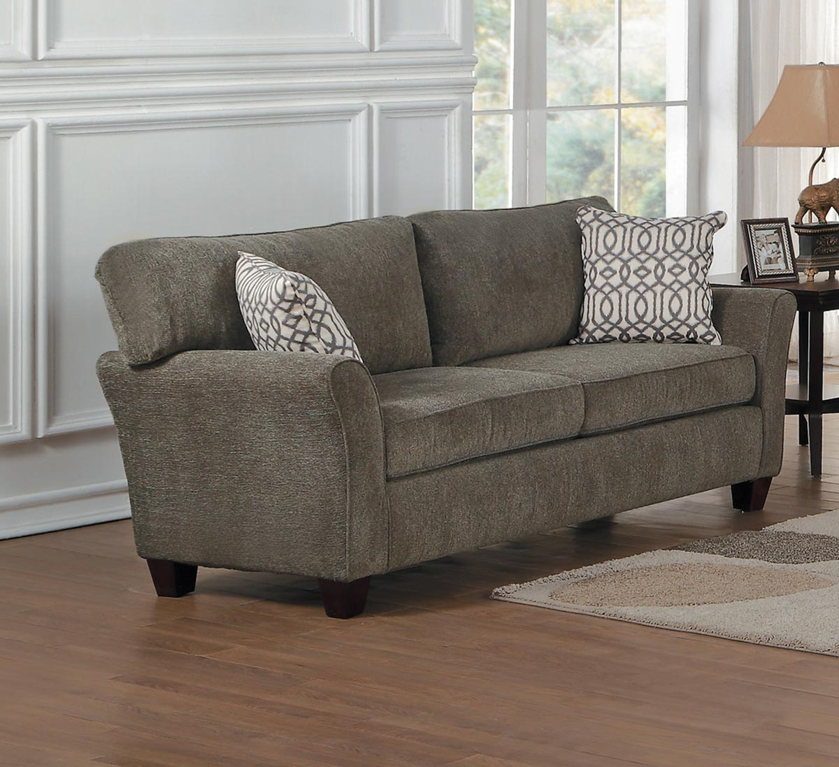 Homelegance Alain Love Seat - Gray Fabric