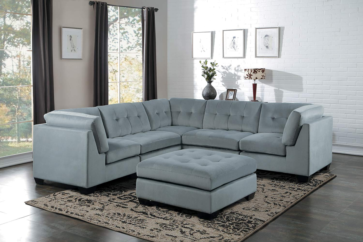dark gray sectional sofa with collection also fabulous charcoal chaise lounge images design venetian homelegance savarin sectional sofa set light gray fabric 12312