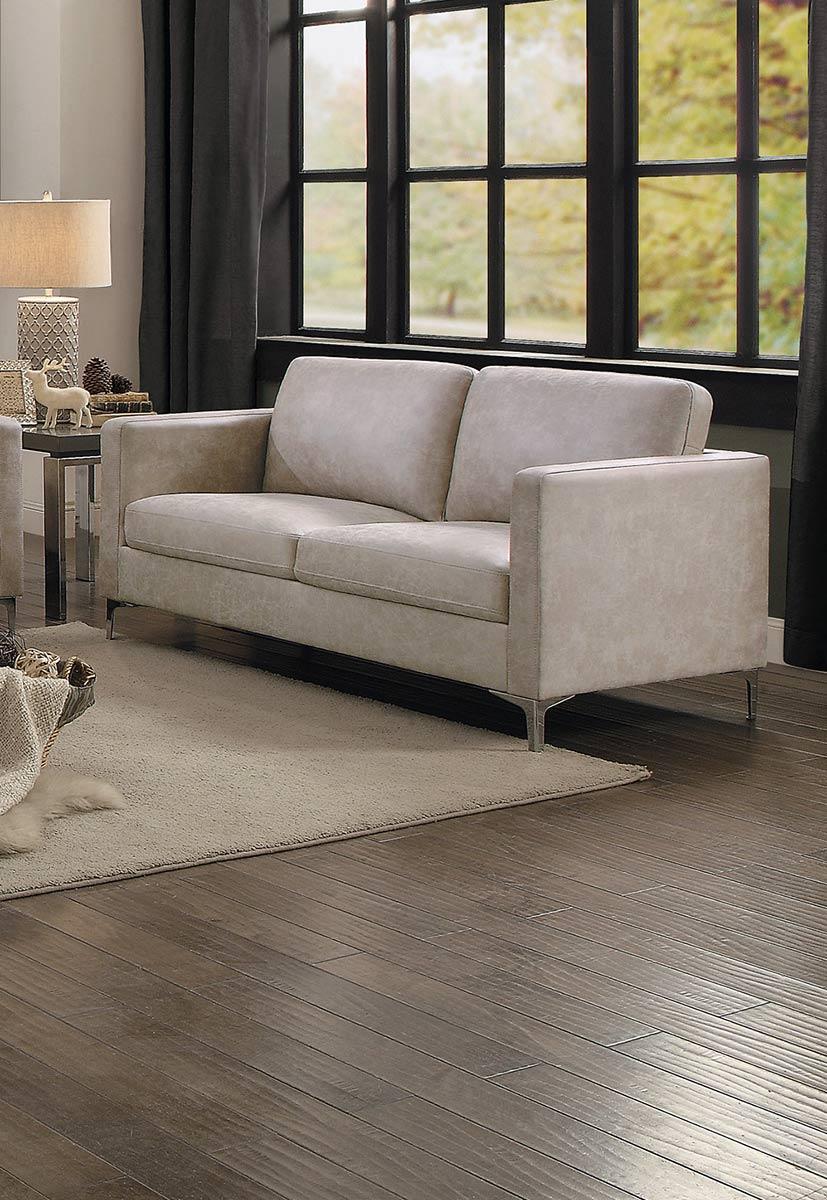 Homelegance Breaux Love Seat - Sesame Fabric