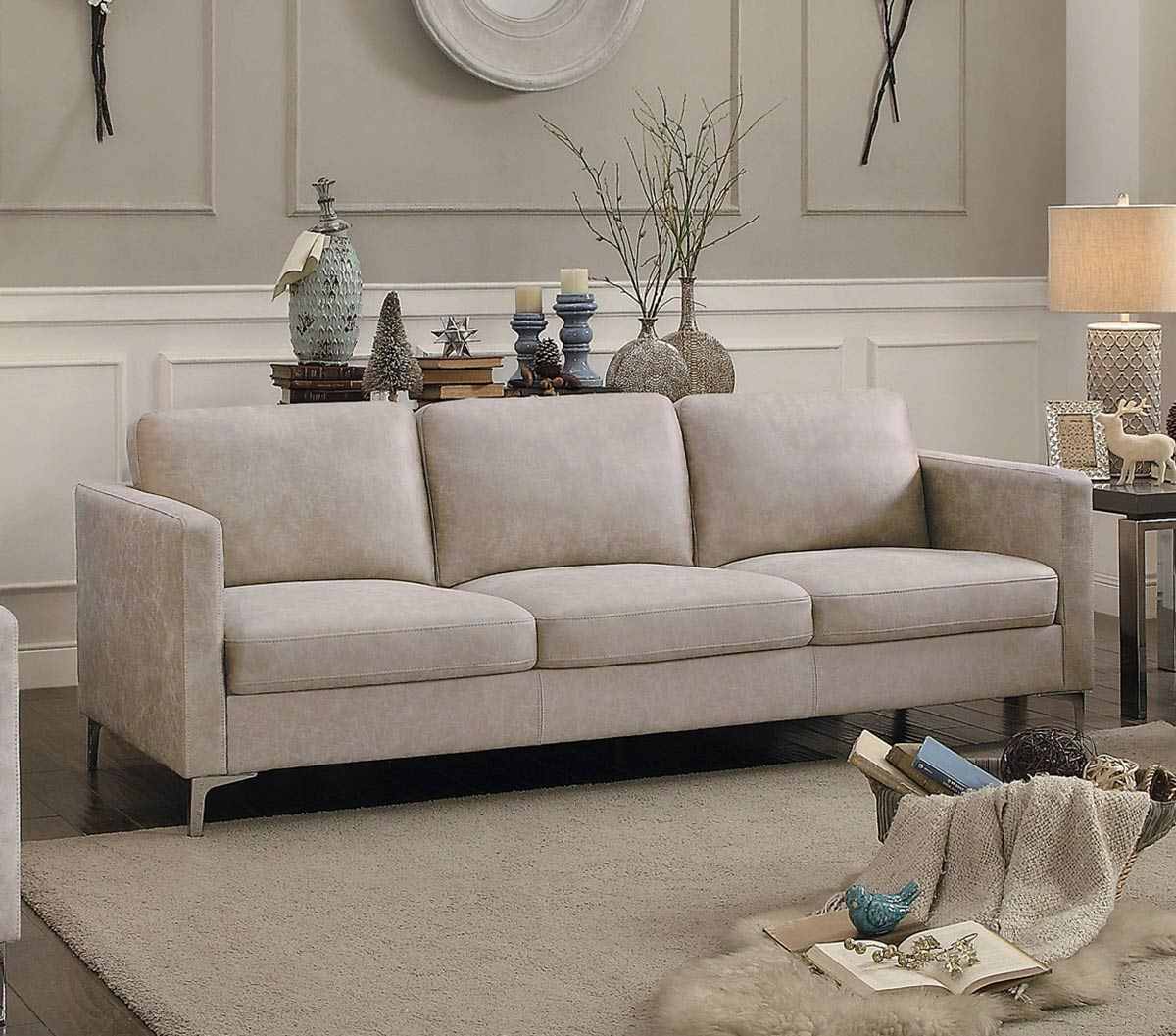 Homelegance Breaux Sofa - Sesame Fabric