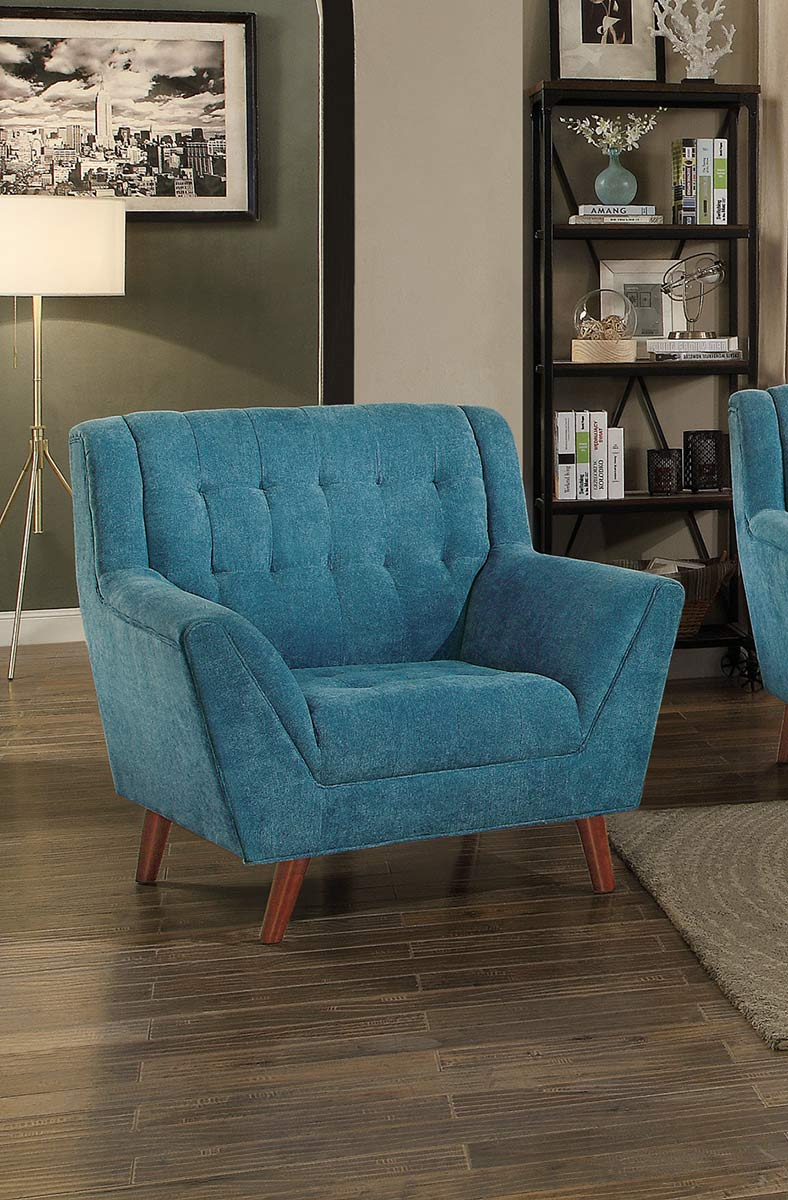 Homelegance Erath Chair - Blue Fabric