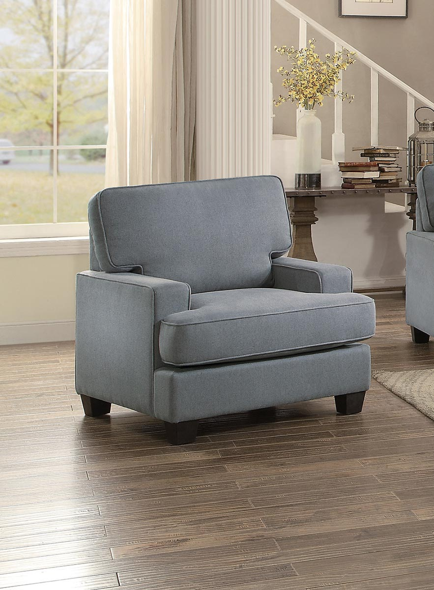 Homelegance kenner chair gray fabric 8245gy 1 at for Home decor kenner