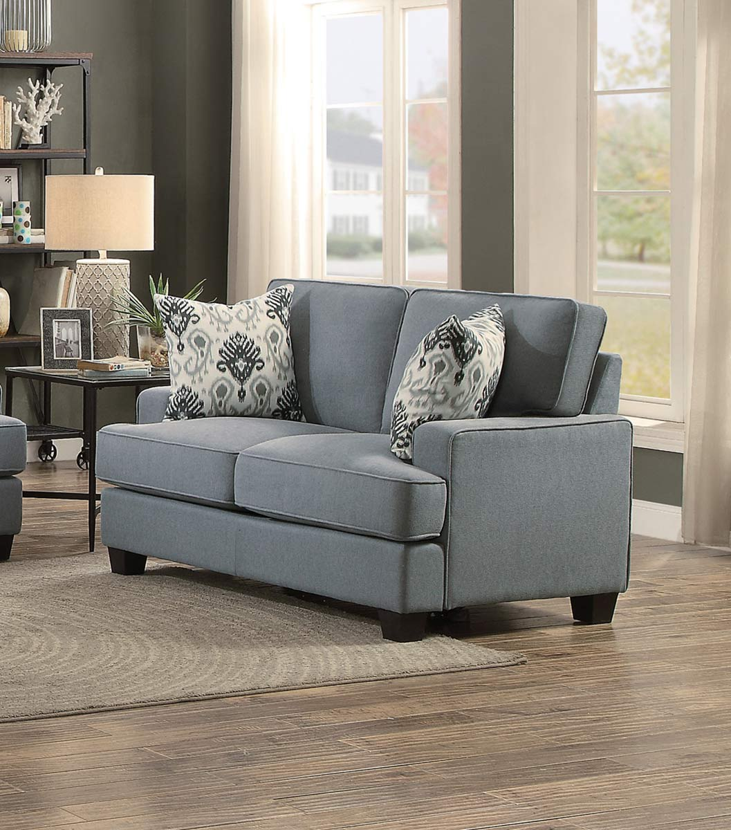 Homelegance kenner love seat gray fabric 8245gy 2 at for Home decor kenner