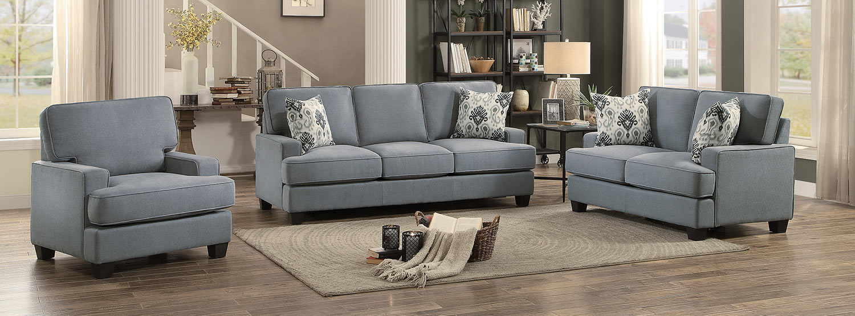 Homelegance kenner sofa set gray fabric 8245gy sofa set for Home decor kenner