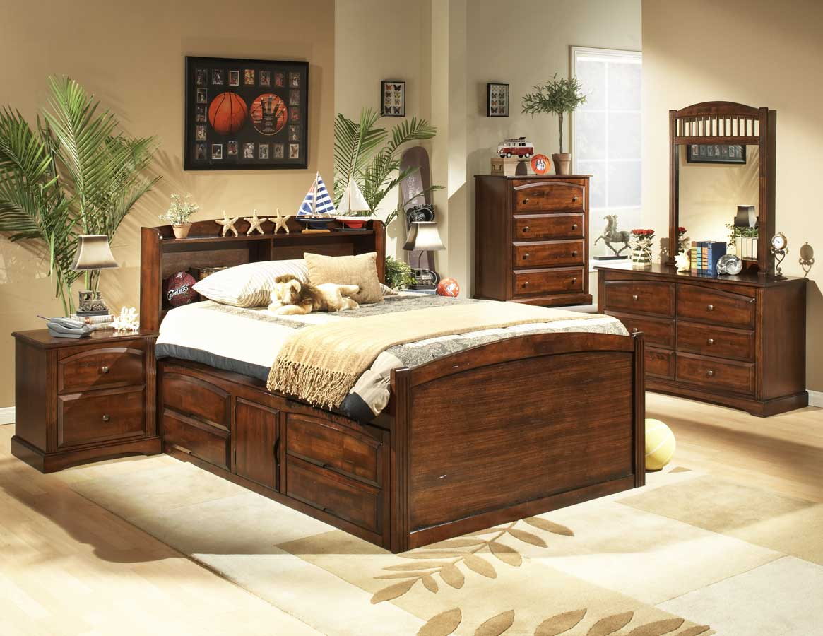 Homelegance Truckee Captain Bedroom Collection Cherry