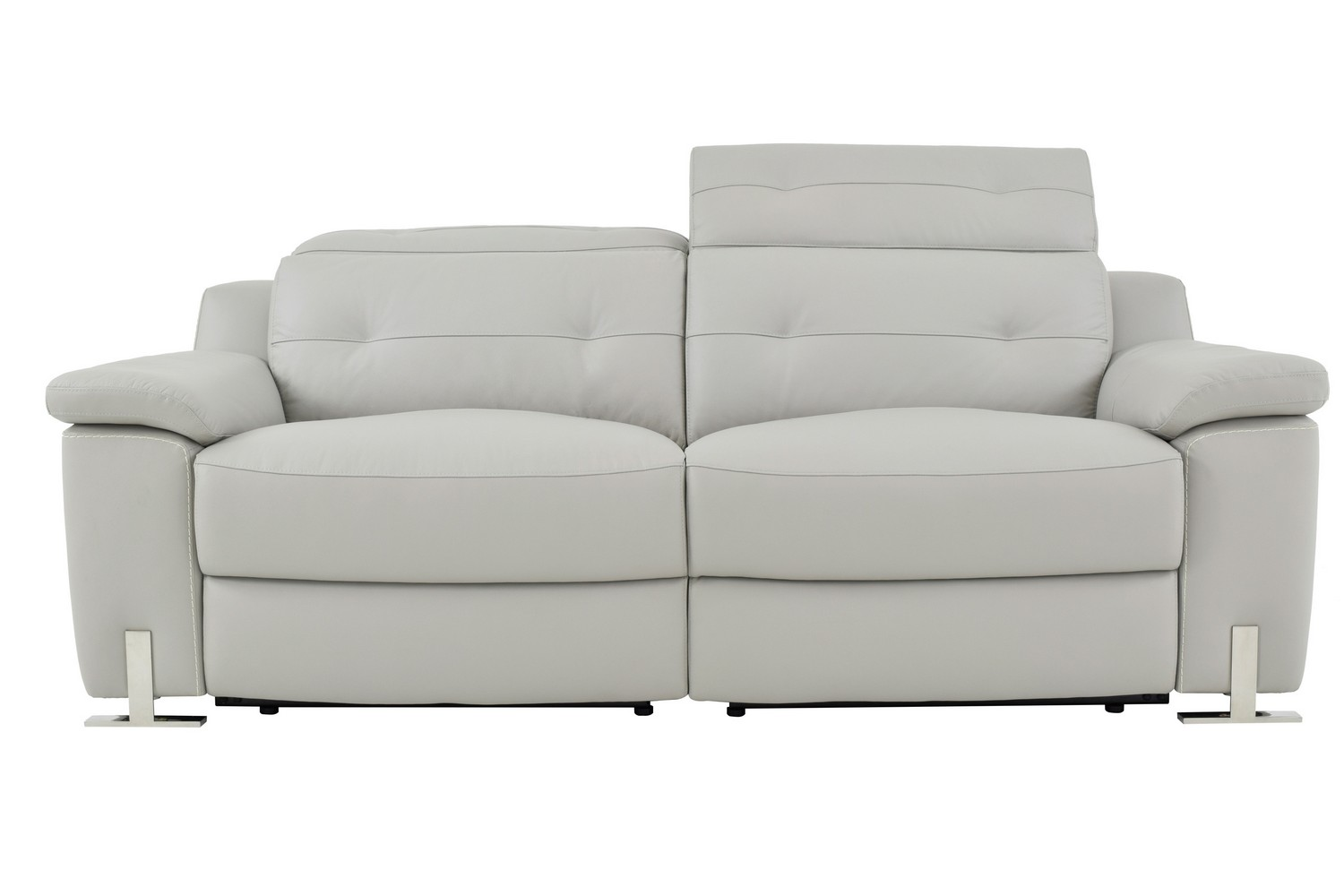 Homelegance vortex power double reclining sofa top grain for Double leather sofa
