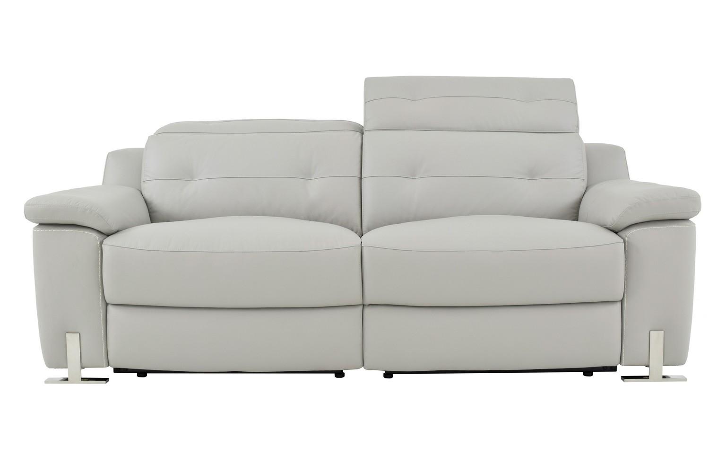 Homelegance Vortex Power Double Reclining Sofa - Top Grain Leather Match - Light Grey