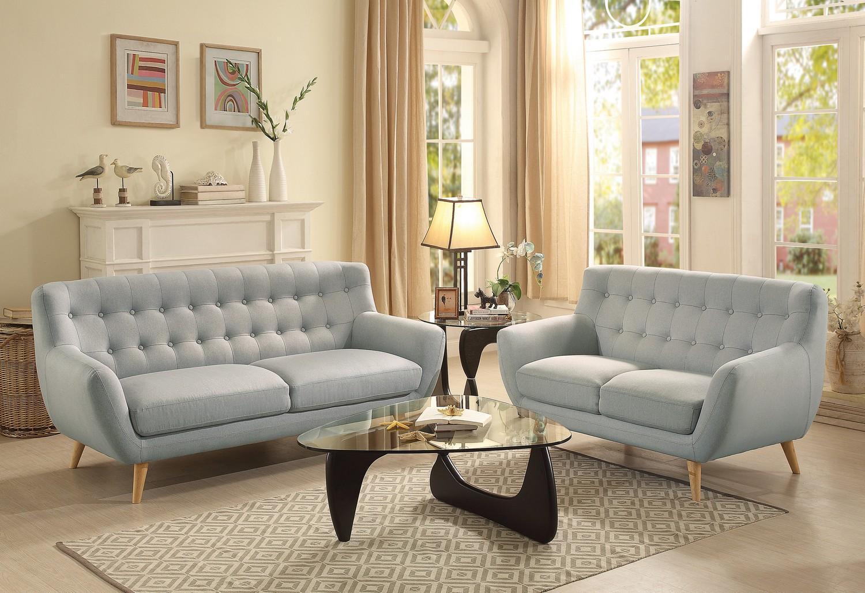 Homelegance Anke Sofa Set - Polyester - Light Grey