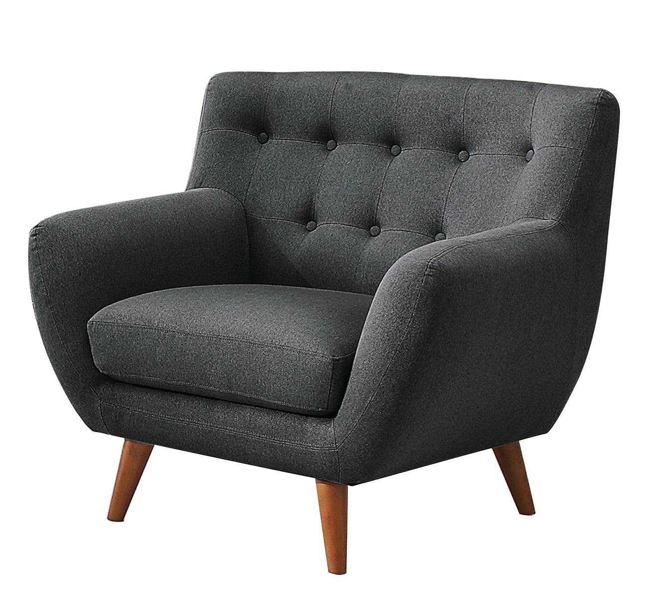 Homelegance Anke Chair - Polyester - Dark Grey